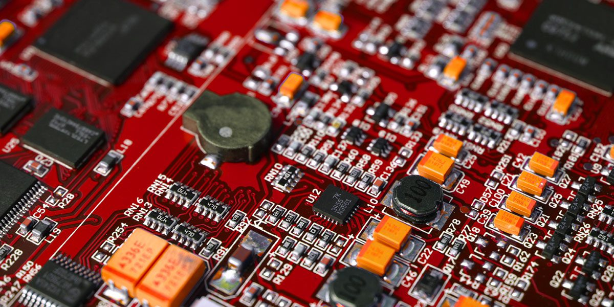 Printed circuit board with electronic components